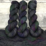 """Grease Monkey"" Hand Dyed Hitchhiker Sock Yarn"