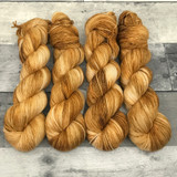 """Caramel Corn"" Hand Dyed Summit Sport Yarn"
