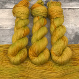 "Day 04 - ""Alchemy"" Hand Dyed Hitchhiker Sock Yarn (31 Days of New Colorways)"