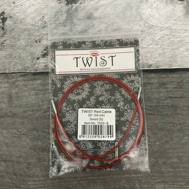 ChiaoGoo Twist Red Interchangeable Cables (Choose Size)