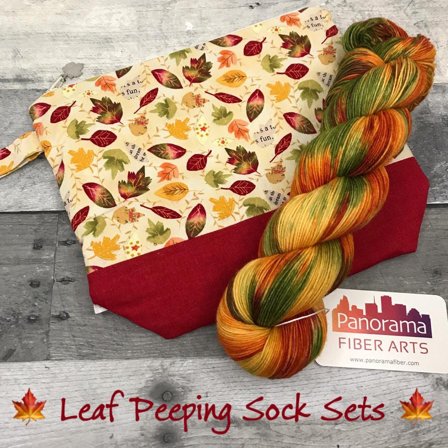 Leaf Peeping Sock Kits (Yarn and Bag)
