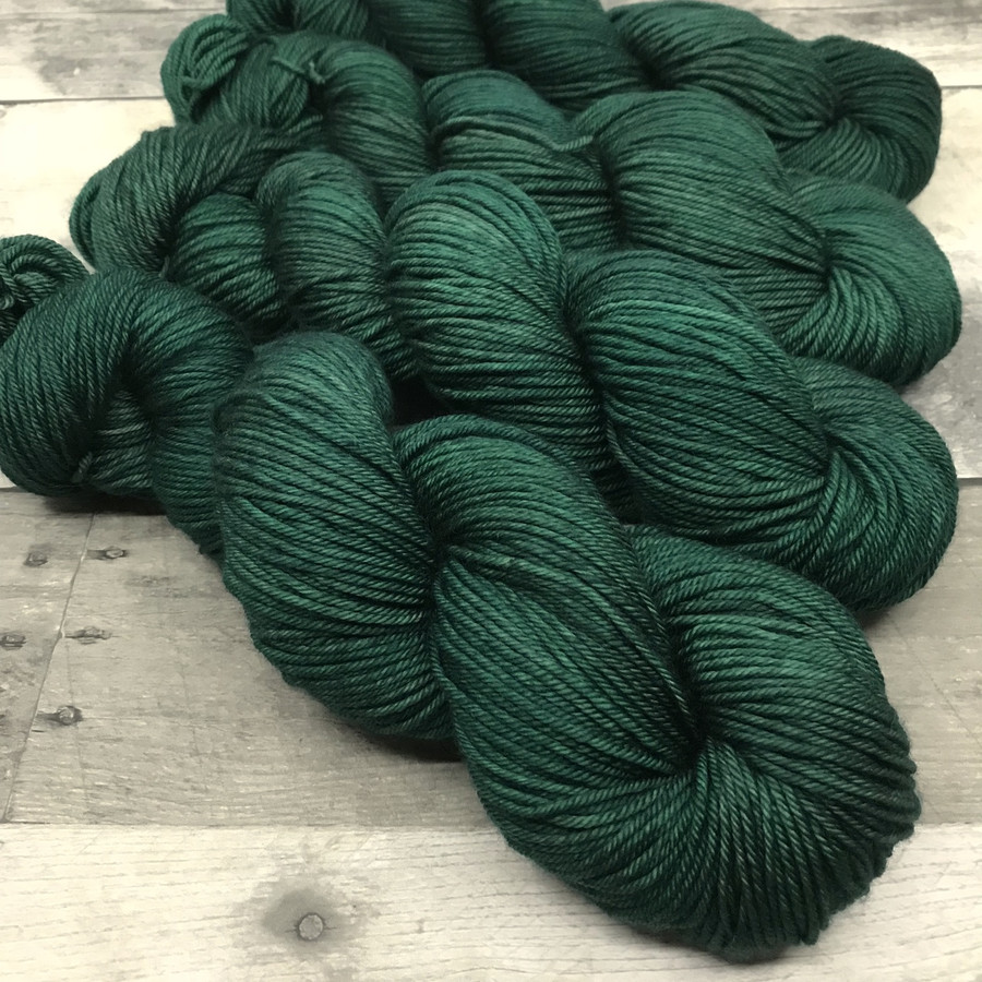 """Scotch Pine"" Hand Dyed Expedition DK Yarn"