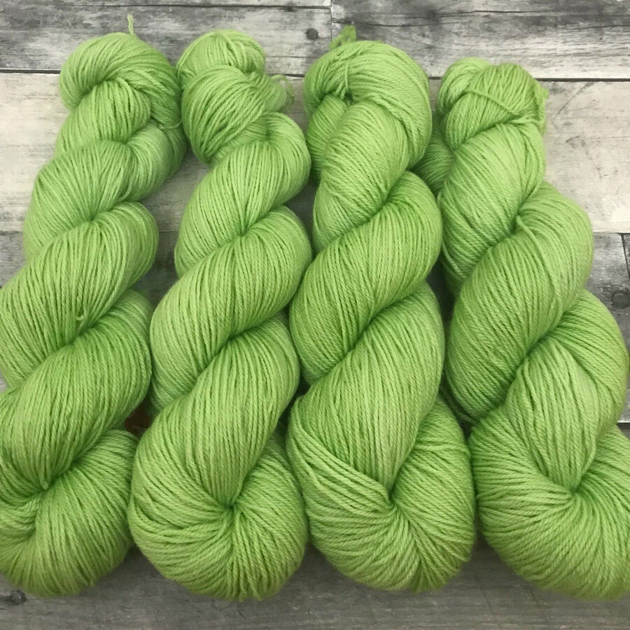 """""""Granny Smith"""" Hand Dyed Yarn - Dyed to Order"""