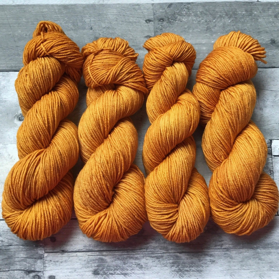 """Curry"" Hand Dyed Yarn - Dyed to Order"