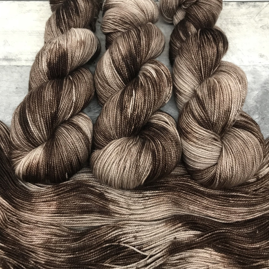 """Day 01 - """"Zebrawood"""" Backcountry Sock Weight Yarn (31 Days of New Colorways)"""