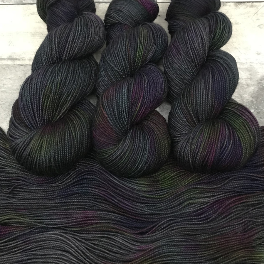 """Day 02 - """"Grease Monkey"""" Backcountry Sock Weight Yarn (31 Days of New Colorways)"""