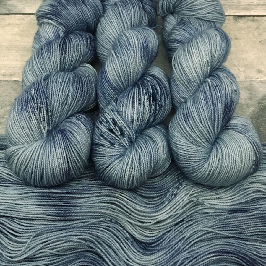"""Day 07 - """"Vintage Denim"""" Backcountry Sock Weight Yarn (31 Days of New Colorways)"""