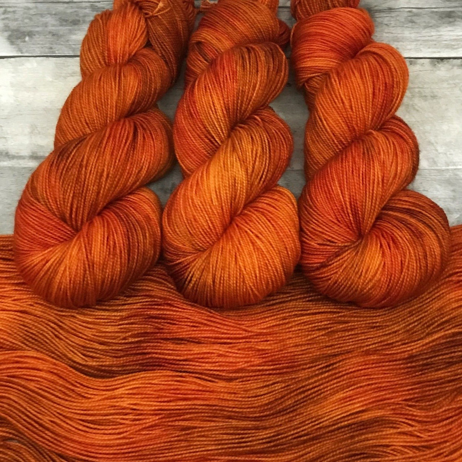 """Firewalker"" Hand Dyed Yarn - Dyed to Order"