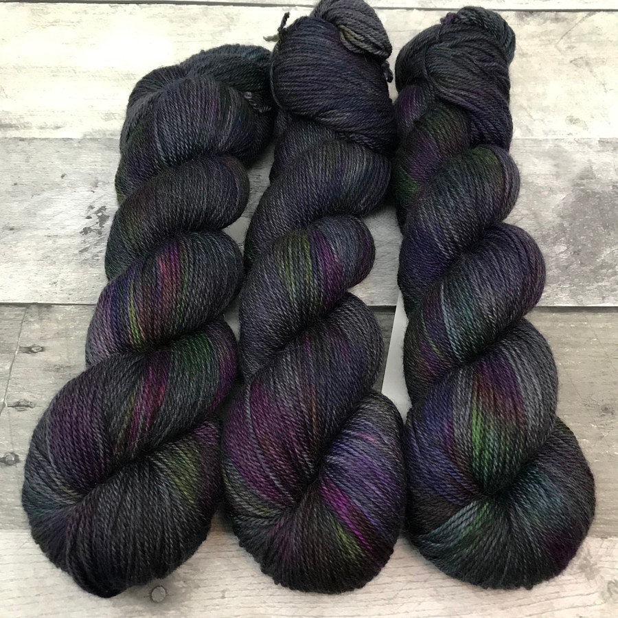 """Grease Monkey"" Hand Dyed Wanderlust Sock Yarn"