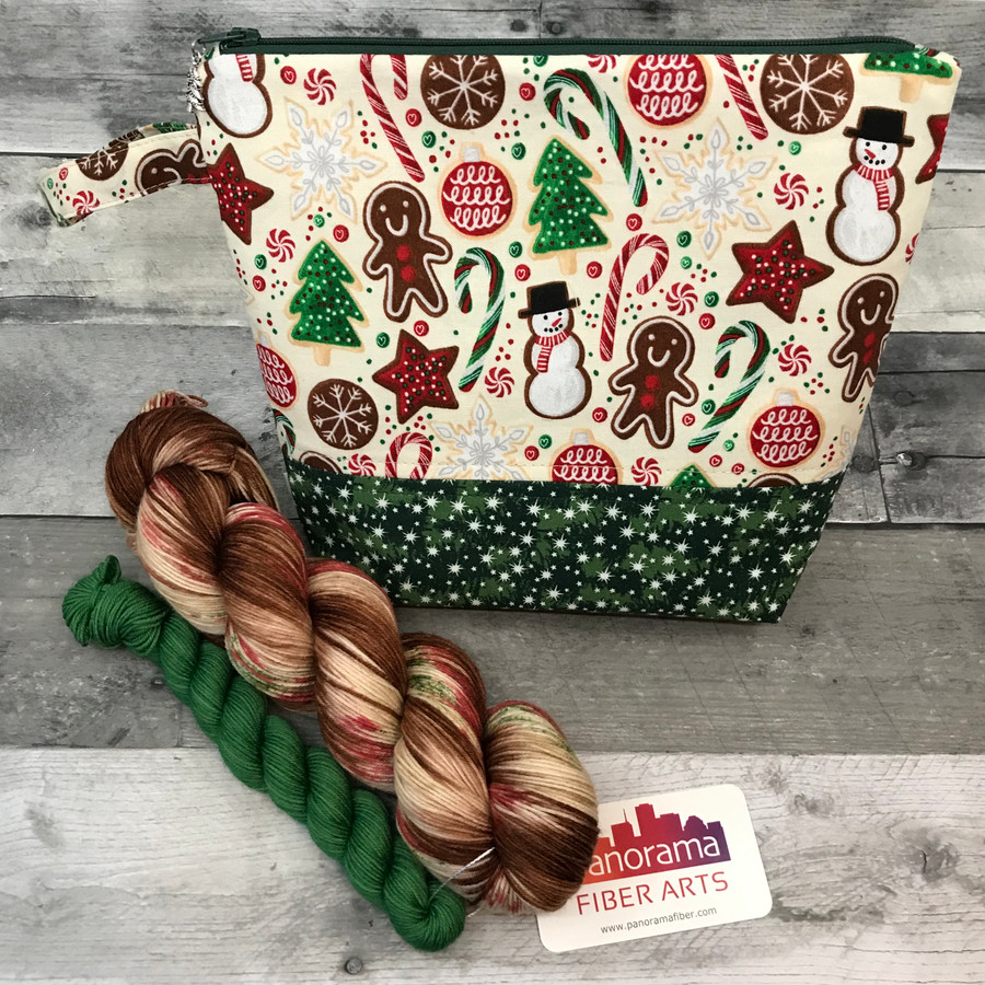 Gingerbread Man Sock Sets (Yarn and Bag)