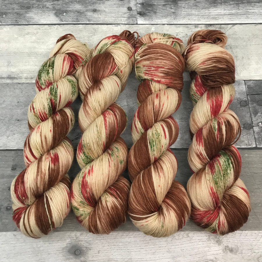 """""""Gingerbread Man"""" Christmas 2019 Signature Colorway (Yarn Only)"""
