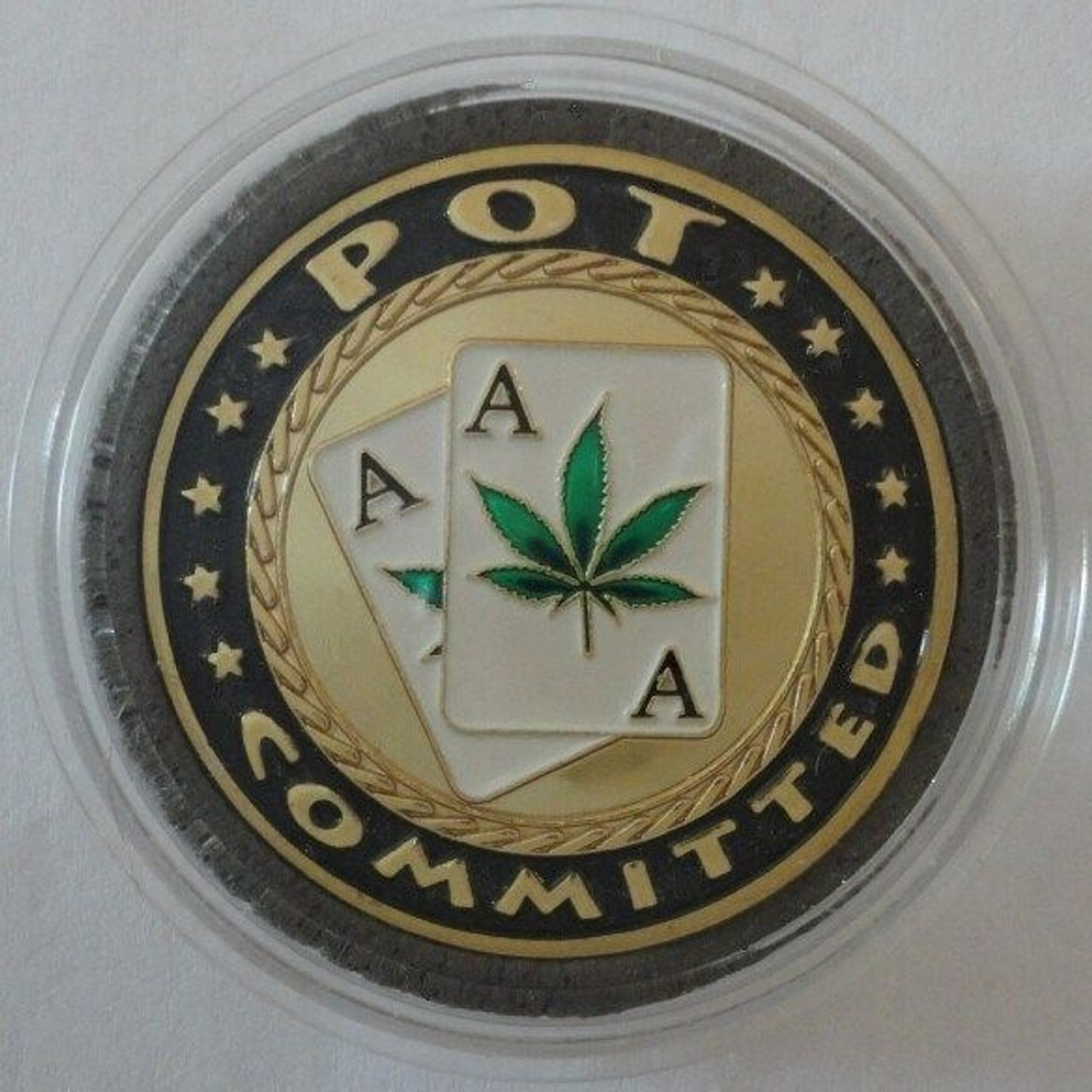 """25 Poker Card Guard Protectors /""""POT COMMITTED/"""" Wholesale Lot of 25"""