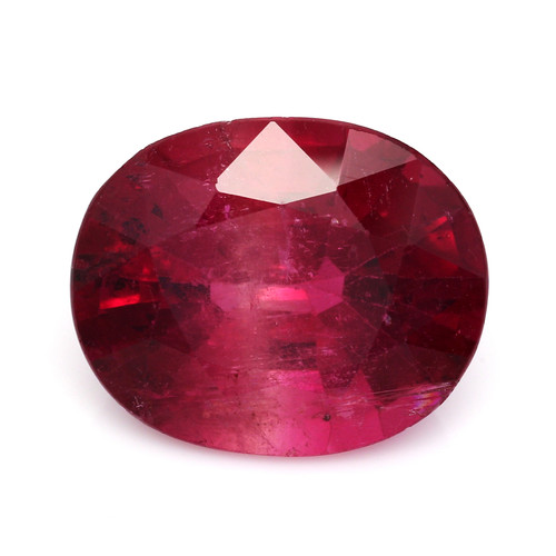 Rubellite Tourmaline Oval  Faceted 15 x 12.5 mm 10.38 Carats GSCTO202