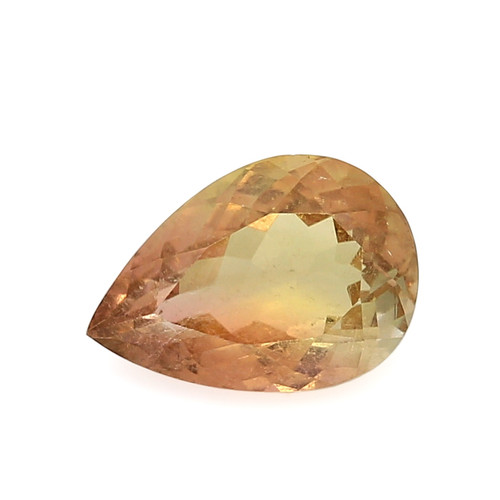 Bi-Color Tourmaline  Pear Faceted  12 x 8.5 mm 3.31 Carats GSCTO232