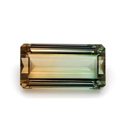 Bi Color Tourmaline Octagon Faceted 28 x 14 mm 43.07 Carats GSCTO288