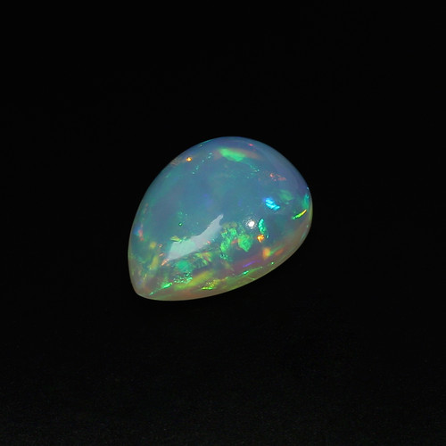 Ethiopian Opal Pear Cabochon 12.21 Carats  22.15X16X7.70 mm GSCEOP023