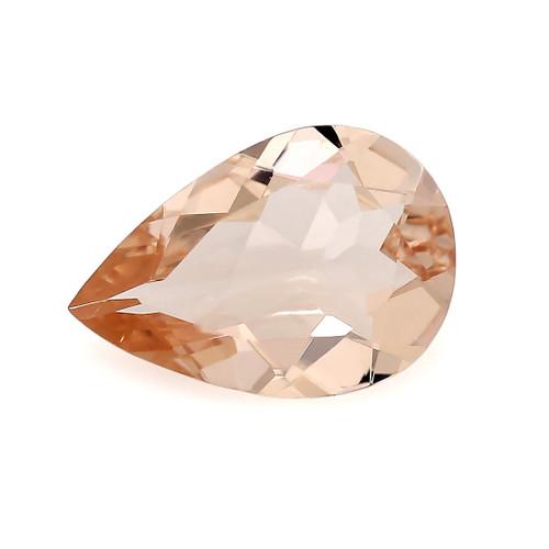 Peach Morganite Pear Faceted 1.11 Carats 10X7 mm GSCPEMO130