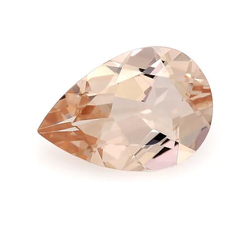 Peach Morganite Pear Faceted 1.35 Carats 10X7 mm GSCPEMO133