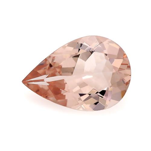 Peach Morganite Pear Faceted 1.36 Carats 10X7 mm GSCPEMO134