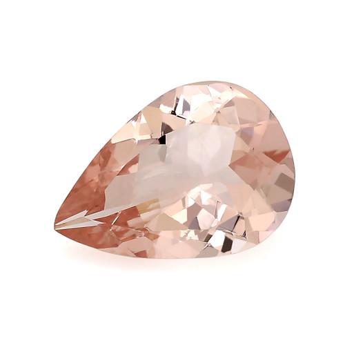 Peach Morganite Pear Faceted 1.37 Carats 10X7 mm GSCPEMO135