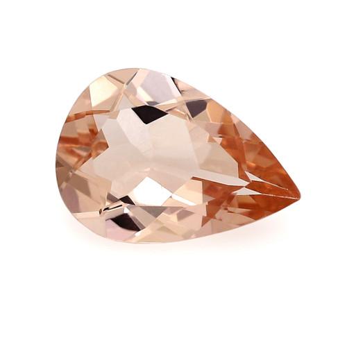 Peach Morganite Pear Faceted 1.42 Carats 10X7 mm GSCPEMO136