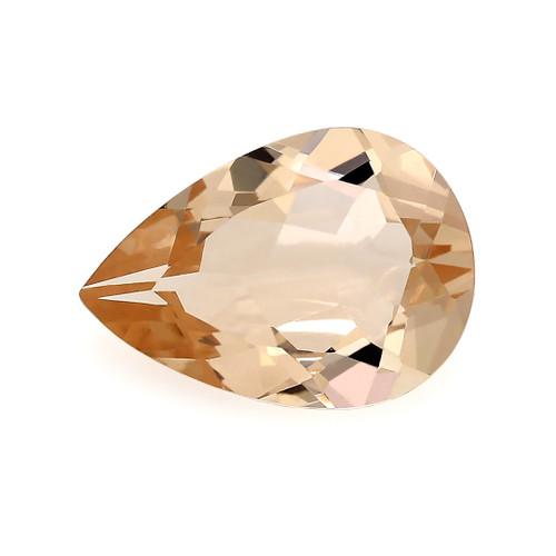 Peach Morganite Pear Faceted 1.44 Carats 10X7 mm GSCPEMO137