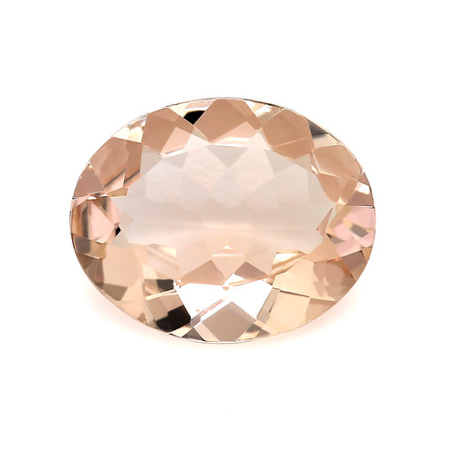 Peach Morganite Oval Faceted 2.21 Carats 11X9 mm GSCPEMO141