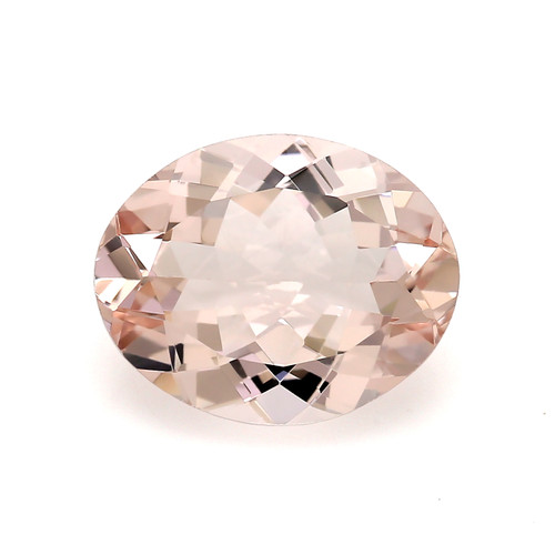 Peach Morganite Oval Faceted 2.61 Carats 11X9 mm GSCPEMO143
