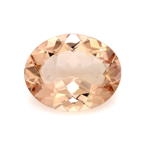 Peach Morganite Oval Faceted 2.67 Carats 11X9 mm GSCPEMO144