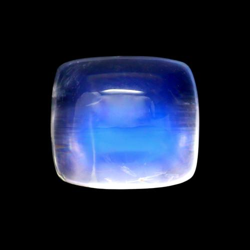 Rainbow Moonstone Cushion Cabochon 4.61 Carats 8X10 mm GSCRMO160