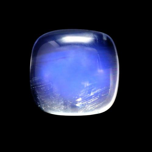 Rainbow Moonstone Cushion Cabochon 3.78 Carats 9X9 mm GSCRMO161