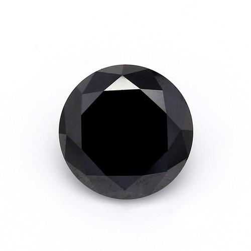Natural Round Brilliant Cut Black Diamond  7mm GSCNBD001
