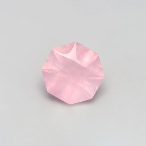 Rose Quartz  Octagon Concave cut 15X15 mm 8.86 Carats GSCRQ006