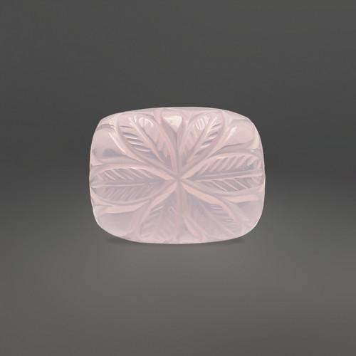 Rose Quartz Flower Carving 16X12 mm 13.21 Carats GSCRQ008