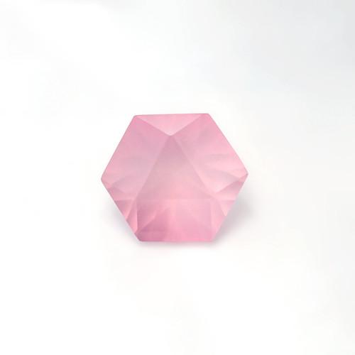 Rose Quartz Hexagon Concave cut 17X17 mm 11.48 Carats GSCRQ010