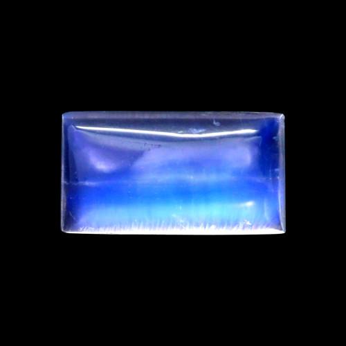 Rainbow Moonstone Baguette Cabochon 4.19 Carats 7X12 mm GSCRMO171