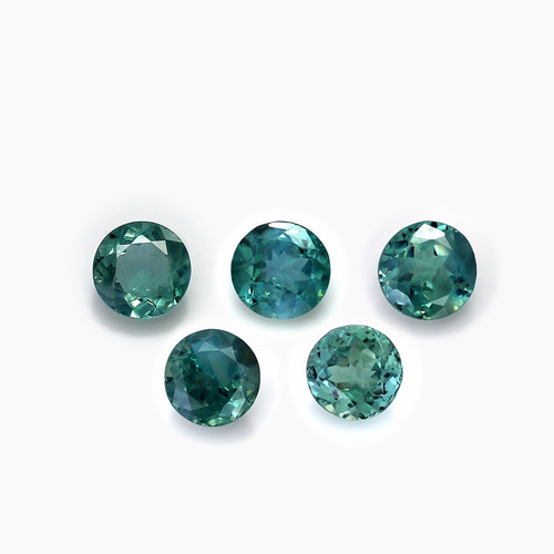 Alexandrite  Round Cut Faceted  5X5 mm  2.65 Carats 5 Piece GSCAL001