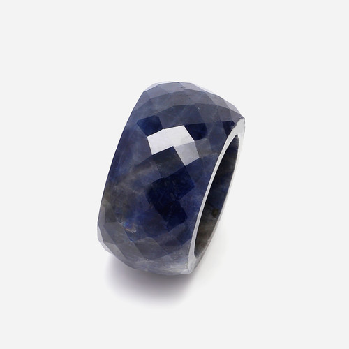 Blue Sapphire Faceted Ring  GSCBS0003