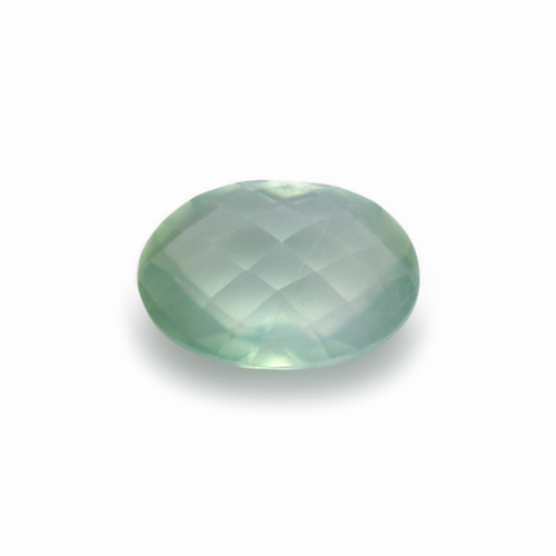 Prehnite Oval Double Side checkerboard Faceted 10X14 mm 6.20 Carats GSCPR002