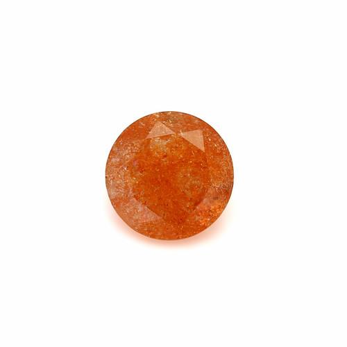 Sunstone Round Faceted 12X12 mm 5.24 Carats GSCSUN005