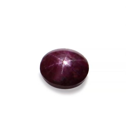 Star Ruby Oval Cabochon 11.5X10.65 mm 7.16 Carat GSCSR002