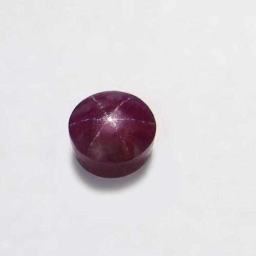Star Ruby Round Cabochon 9.5X9.5mm 6.74 Carat GSCSR007