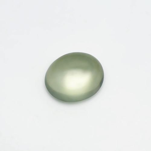 Green Moonstone Oval Cabochon 13.5X15.5 mm 10.35 Carats GSCGRM001