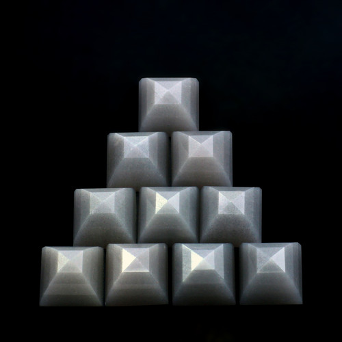 Grey Moonstone Step Cut on Top Square Cabs Flat Bottom  10X10 mm 10 Piece 55.24 Carats GSCGMON003