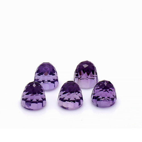 Amethyst Faceted Highdom 6 x 6 x 6 mm 5 Piece 7.89 Carat GSCAM018