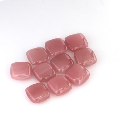 Guava Quartz Cushion Cabochon 12X12 mm 10 Piece 66.44 Carat GSCGQ001