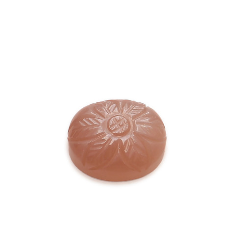 Cappuccino Chocolate Moonstone Cushion Carving 11X13 mm  6.52 Carats GSCCM012