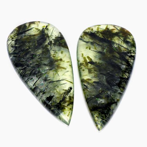 Moss Agate Pear Cabochon 24X54 mm 77.30 Carats GSCMA001