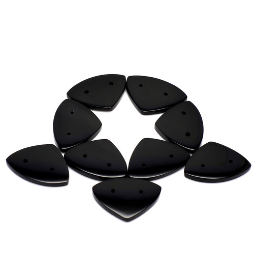 Black Onyx  Flat Trilliant  17X23 mm 81.81 Carats GSCBON002