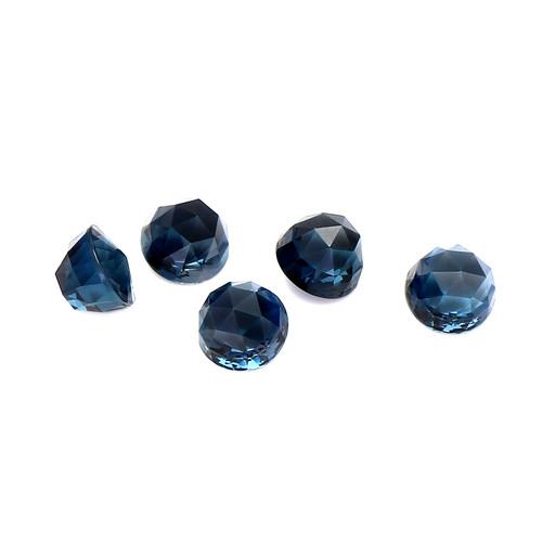 London Blue Topaz Highdom  Faceted 8X8X7 mm 16 Piece 53.29 Carats GSCLBT003